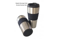 Magnetic Beverage Holder - Stainless Steel
