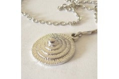 Magnetic Necklet 'Coolie' - Silver Rhodium Plated