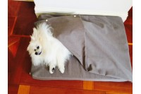 Magnetic Pet Bed 15cm Cotton Taupe - 2pce 'Lily Bed'