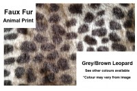 Magnetic Pet Lead Faux Fur - Animal Print