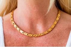 Magnetic Necklet 'Chelsea' Stainless Steel - Goldtone