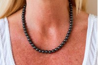 Magnetic Hemitite Stretch Necklet 46cm - Round Bead - (Retractable Gel)