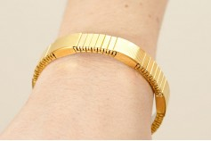 Magnetic Expandable 'Medium' Goldtone Stainless Steel Bracelet