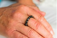 Magnetic Hemitite Stretch Ring