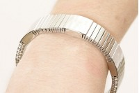 Magnetic Expandable 'Chunky' Silver Stainless Steel Bracelet
