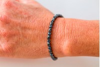 Magnetic Hemitite Stretch Bracelet - Oval Bead - (Retractable Gel)