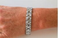 Magnetic Bracelet 'Bronson' Stainless Steel - Silvertone