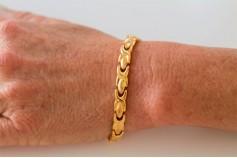 Magnetic Bracelet 'Chelsea' Stainless Steel - Goldtone