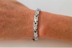 Magnetic Bracelet 'Chelsea' Stainless Steel - Silvertone