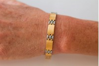 Magnetic Bracelet 'Classic' Stainless Steel - Goldtone