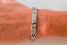 Magnetic Bracelet 'Classic' Stainless Steel - Silvertone