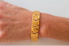 Magnetic Bracelet 'Garrison' Stainless Steel - Goldtone