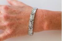 Magnetic Bracelet 'Jamison' Stainless Steel - Goldtone