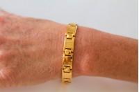 Magnetic Bracelet 'Jensen' Stainless Steel - Goldtone