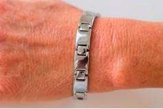 Magnetic Bracelet 'Jensen' Stainless Steel - Silvertone