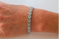 Magnetic Bracelet 'Princess' Stainless Steel - Silvertone