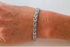 Magnetic Bracelet 'Princess' Stainless Steel - Silvertone