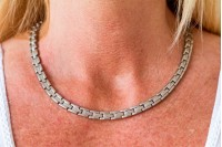 Magnetic Necklet 'Princess' Stainless Steel - Silvertone