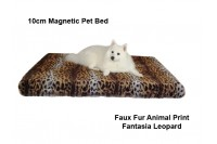 Magnetic Pet Bed 10cm with Faux Fur Cover