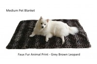 Magnetic Pet Blanket - FAUX FUR ANIMAL PRINT